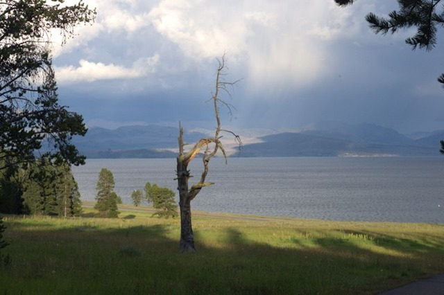 Yellowstone Lake from Bridge Bay Campground, Yellowstone National Park, Wyoming, August 15, 2014