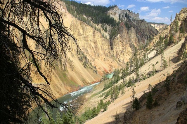 Grand Canyon of the Yellowstone, Yellowstone National Park, Wyoming, August 17, 3014