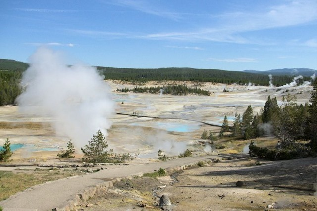 Porcelin Basin Trail, Norris Geyser Basin, Yellowstone National Park, Wyoming, August 19, 2014