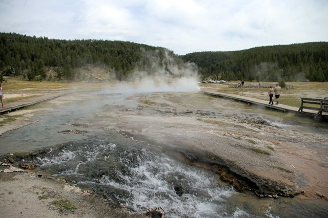 Firehole Lake area, Yellowstone National Park, Wyoming, August 19, 2014