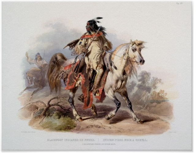 A Blackfoot Indian on horse-back - 1011025