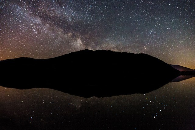 Milky Way over Lake McDonald
