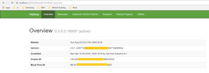 Hadoop Name Node Web UI