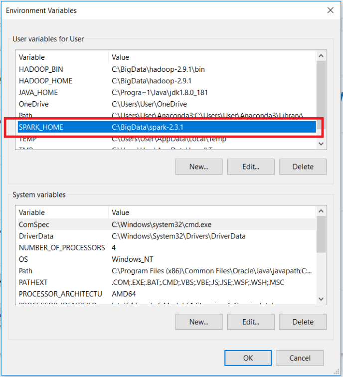 Install Apache Spark - Set Environment Variables - SPARK_HOME