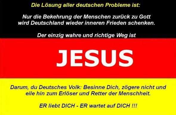 """Lösung aller Probleme in """"Deutschland"""""""