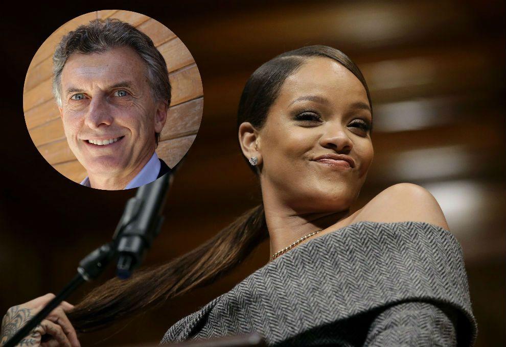 La pregunta que Rihanna le hizo a Mauricio Macri