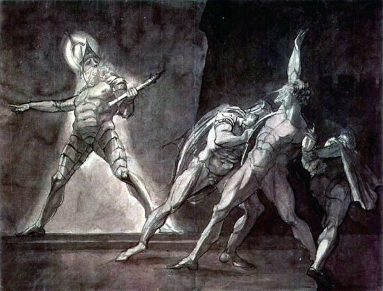 Henry Fuseli - Hamlet and his father's Ghost (1780-1785). Courtesy of Wikimedia Commons