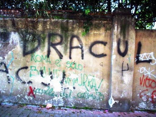 Street graffiti, Rome, circa 2005.