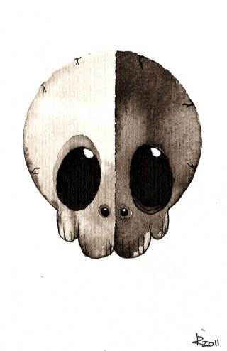 Bipolar skull by Taiyo85 on Deviantart