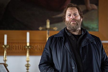 Ólafur Darri Ólafsson from the Icelandic TV show, Trapped