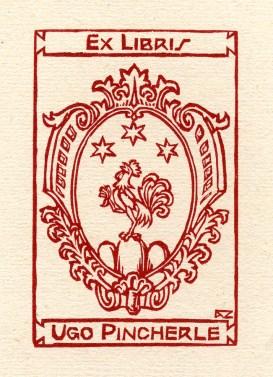 Alberto Zanverdiani. Ex libris para Ugo Pincherle.