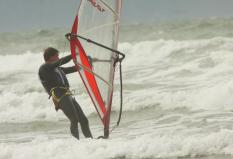 Wind Surfing at Saunton Sands. By Peter French. http://www.flyingtigers.co.uk/