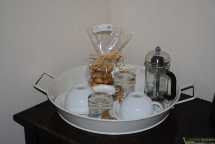 Bedroom tray with homemade biscuits