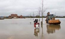 Floods in Moorland, Somerset