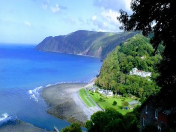 Lynmouth from above