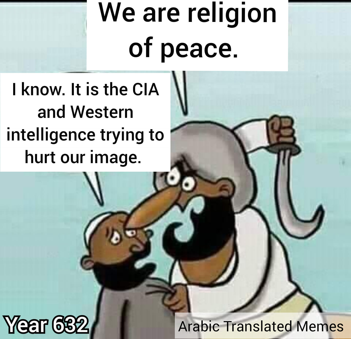 CIA west religion of peace