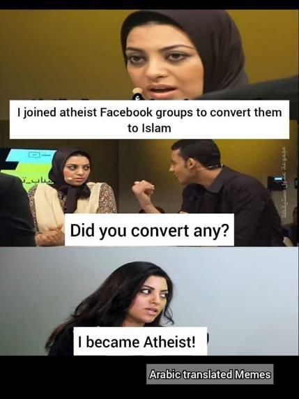 atheist convert Islam apologist islamist facebook social media jihadist hijab leaving exmuslim ex-muslim