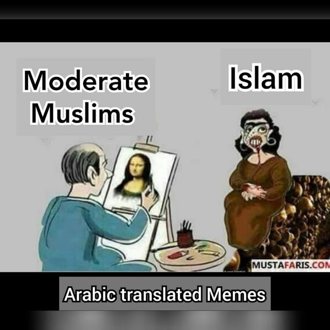 moderate Muslims islam painting covering up misrepresentation apologist