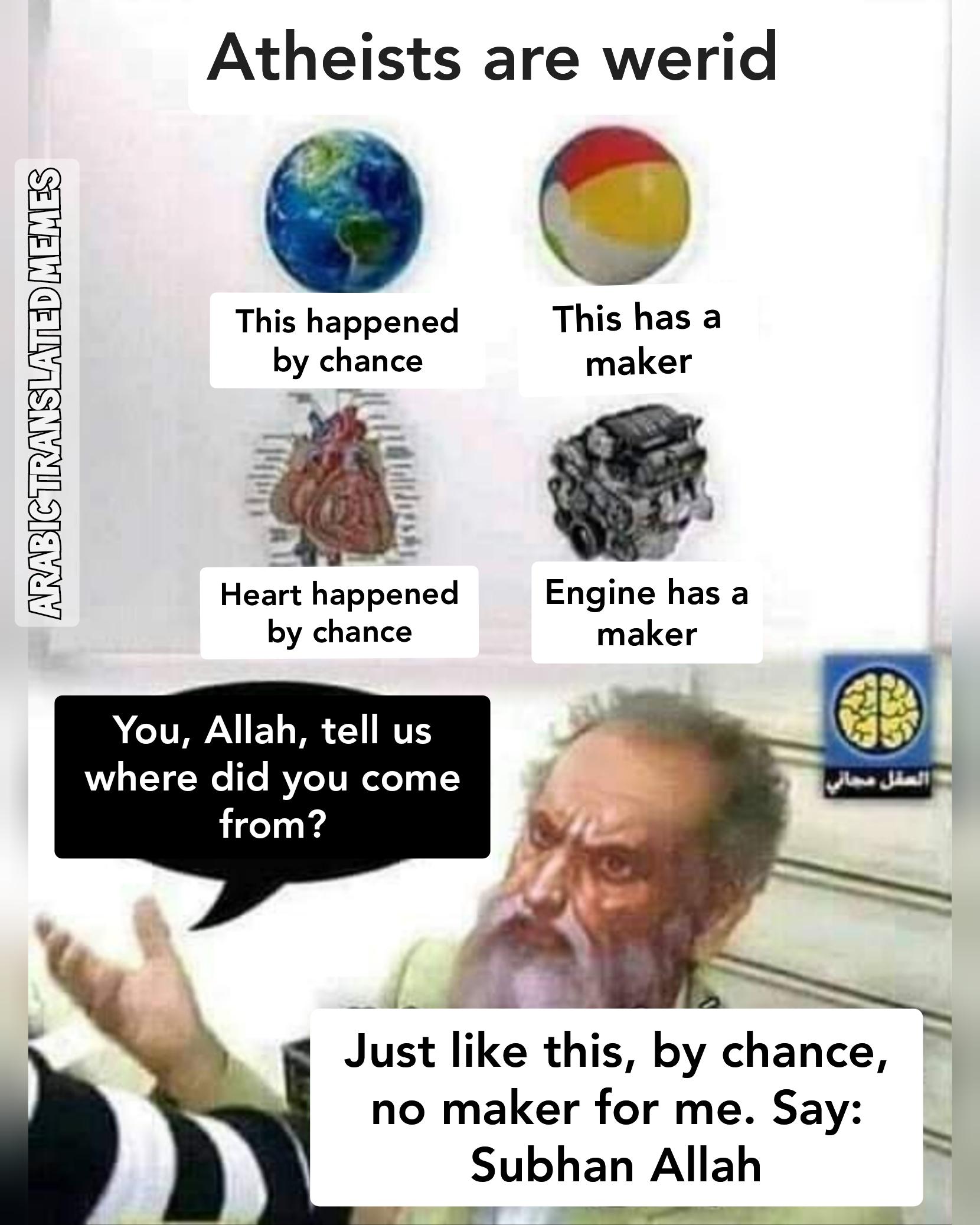 Who created allah?