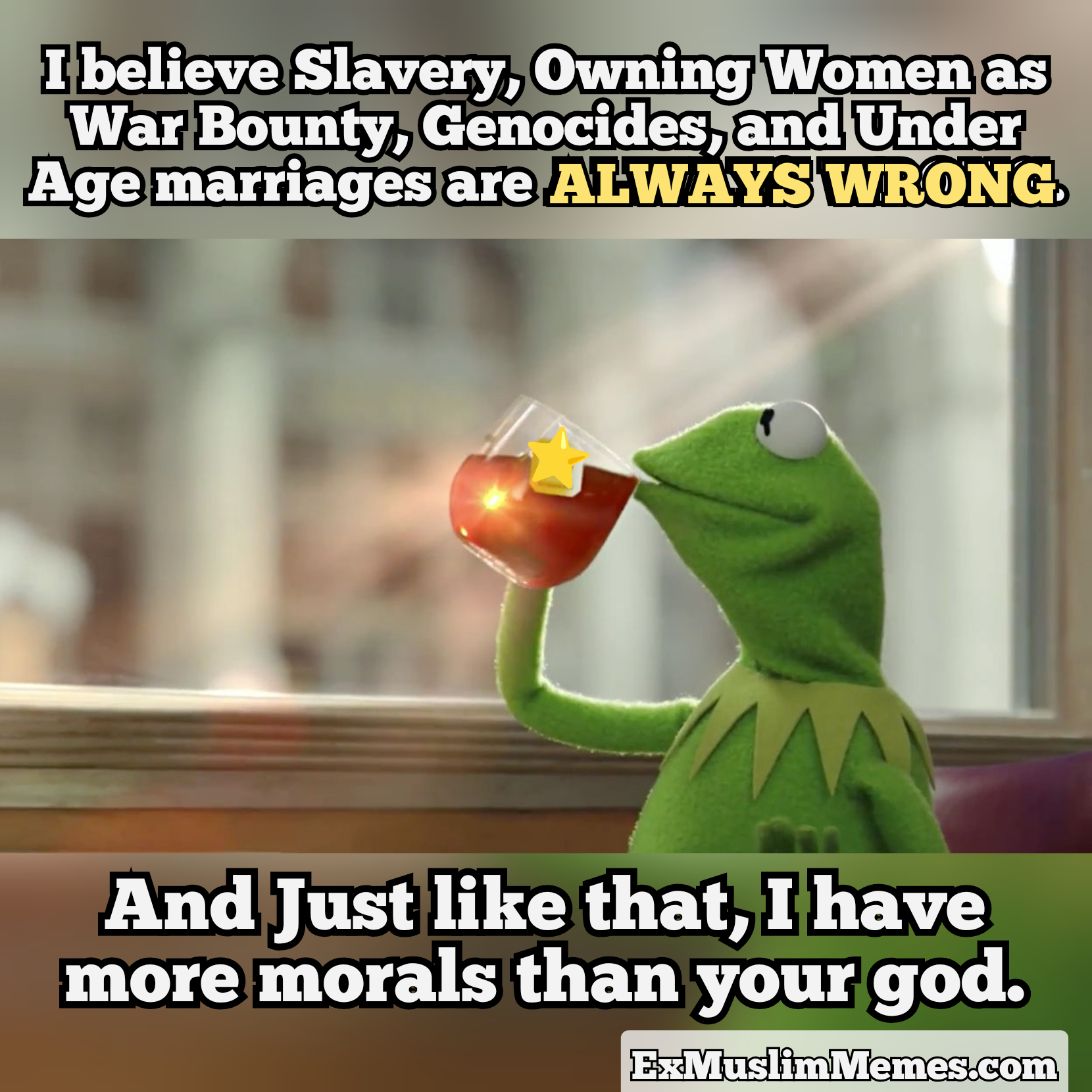 Slavery women wrong all the time on morality