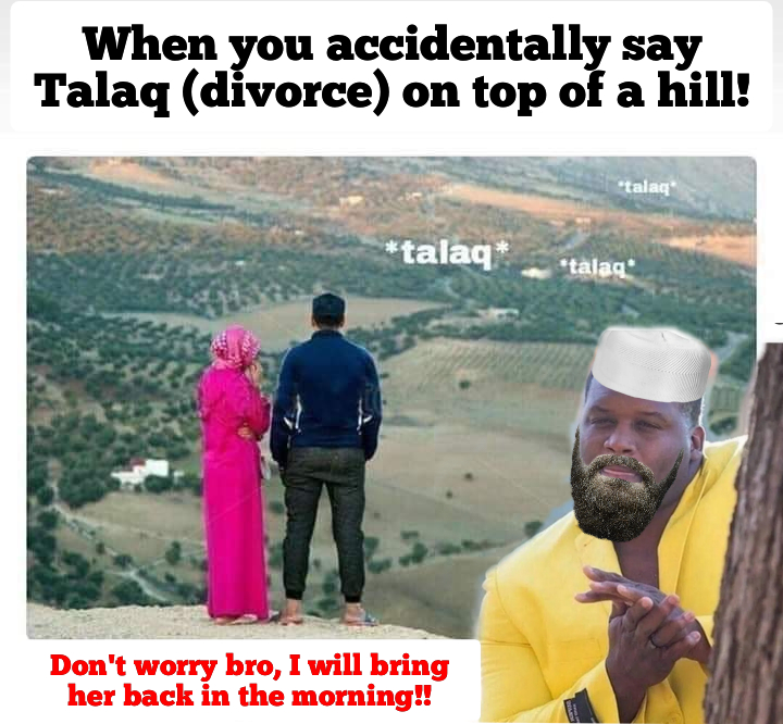 Triple divorce in Islam Meme