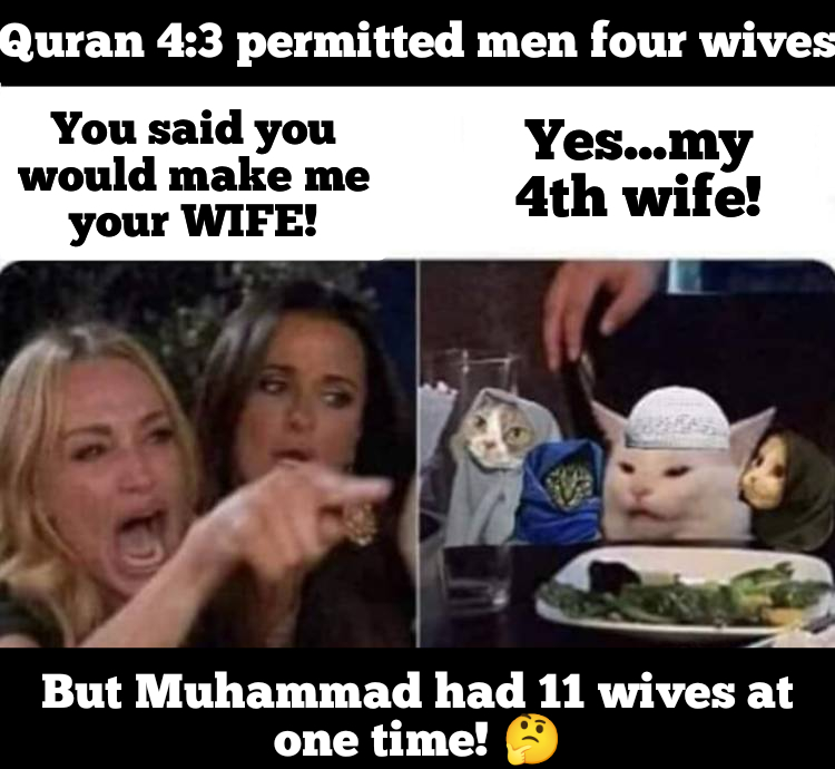 four wives when Muhammad had many wives