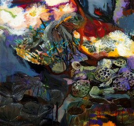 exoartgroup__alexandraprajer_lotus_2016_painting_60x60cm_uniquepiece