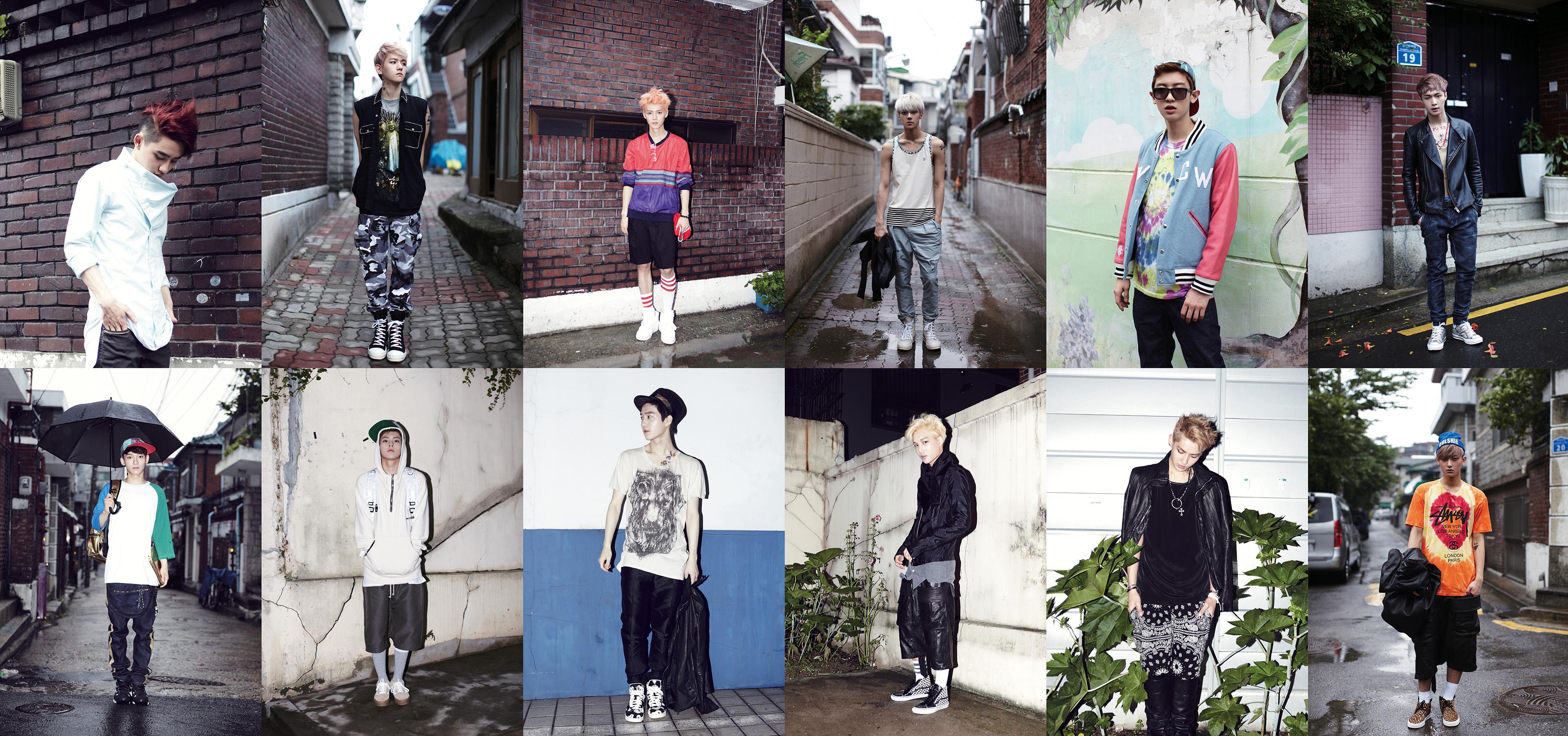 exo repackaged album �growl� ����� teaser photos