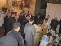 20. going to the birth grotto with prime minister Fayyad and the mayor beside each other
