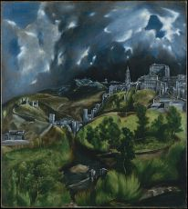 El Greco's landscape of Toledo depicts the Priory in which John was held captive, just below the old Muslim Alcazar and perched on the banks of the Tajo on high cliffs