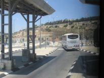06. the previous bus at the checkpoint to Jerusalem