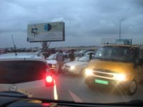 10. traffic jam near Qalandia