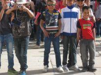 14. Muslim boys visiting Nativity Church