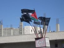 18. black flags for the killed people in Gaza