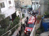 13. fire brigade in Deheisha camp for a fire nearby