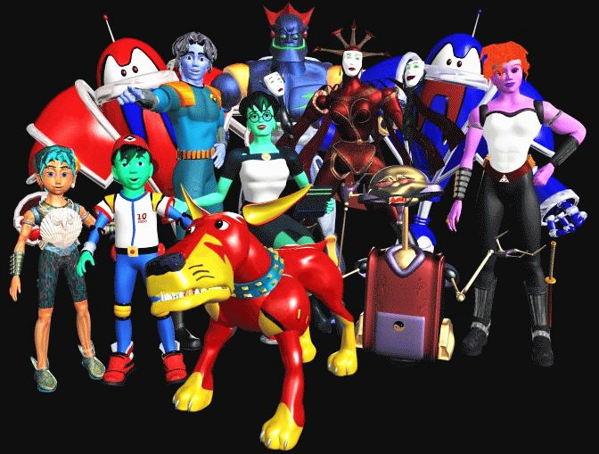"""the """"cast"""" of the ReBoot anime"""