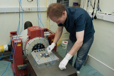 The PanCam Small Items undergoing a qualification vibration test by Craig Theobald at MSSL. Image Credit: M. de la Nougerede, UCL/MSSL 2018 https://flic.kr/p/24zM1oF