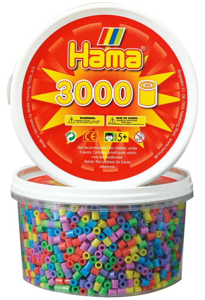Hama Dose Mit 3000 Bugelperlen Neon 3 000 Perlen Midi