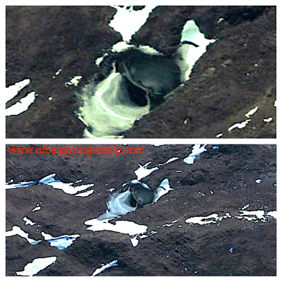 Google Earth Image of one of the strange entrances into Antarctica. Image Credit: UFO Sightings