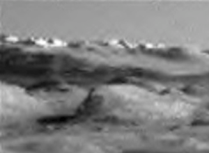 Zoom of NASA Curiosity Rover photo showing apparent buildings on Mars. Source: NASA JPL