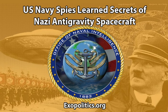 US Navy Spies Learned Secrets of Nazi Anti-gravity Spacecraft – Exo News