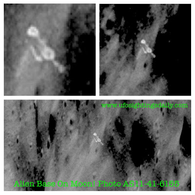 NASA image AS11-41-6155 reveals what appears to be an alien base on the far side of the moon.