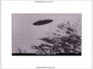 UFO photo in the Art of Deception, p. 35