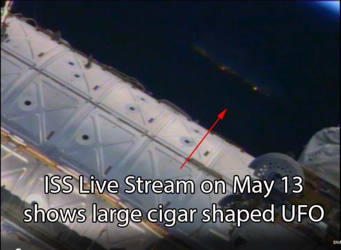 Screenshot of ISS live video stream