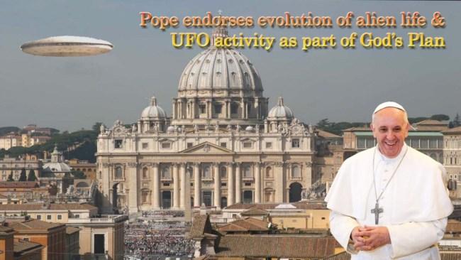 Pope endorses evolution of ET life