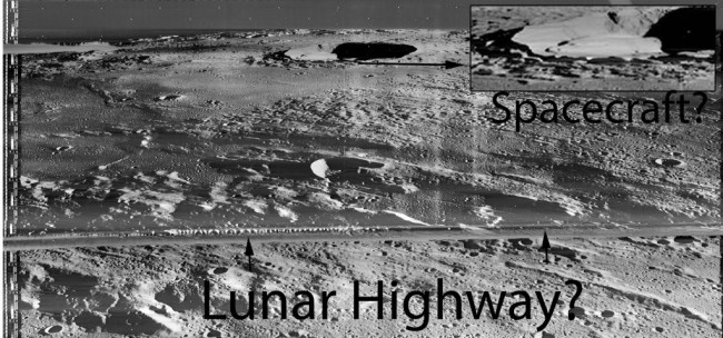 Spacecraft and Hwy on Moon