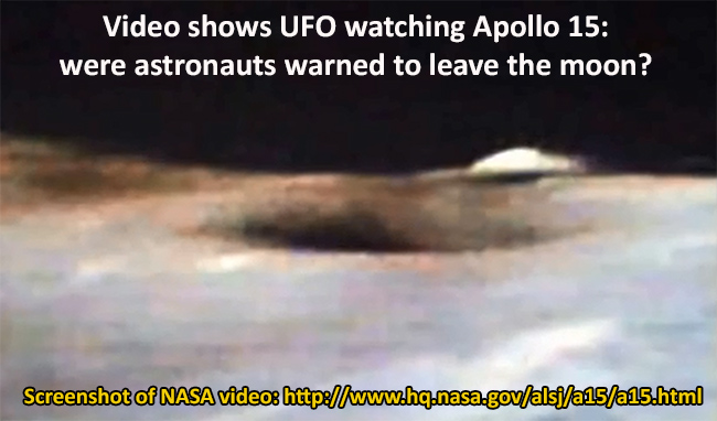 UFO parked on Moon's Surface