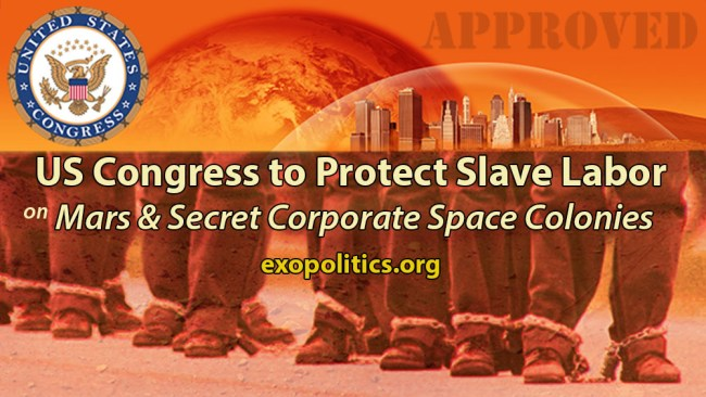 US Congress to protect slave labor