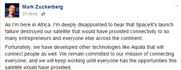 Zuckerberg on Space X