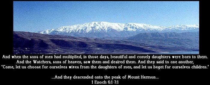 Image result for 200 fallen angels descended on mount hermon